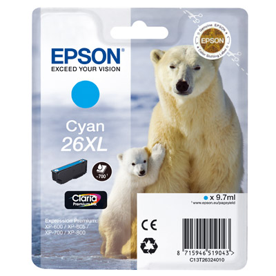 INK EPSON T263240 CIANO N. 26XL