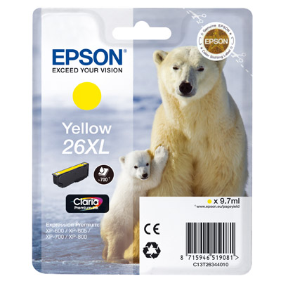 INK EPSON T263440 GIALLO N. 26XL