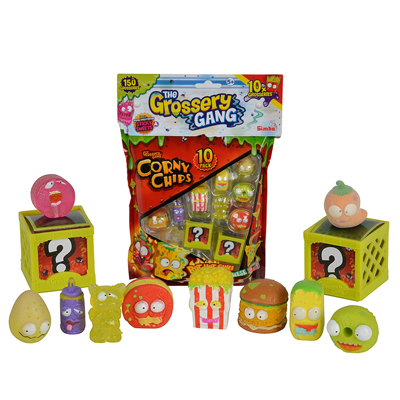 PERSONAGGIO THE GROSSERY GANG CORNY CHIPS 10 PEZZI