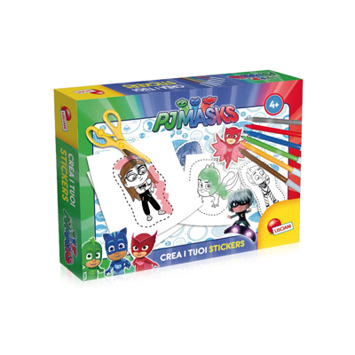 GIOCO EDUCATIVO PJ MASKS CREA I TUOI STICKERS