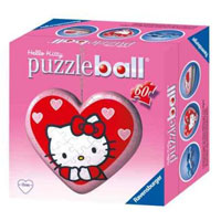 PUZZLESBALL A CUORE HELLO KITTY